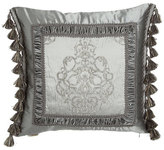 "Dian Austin Couture Home Venetian Glass Silk-Framed Pillow with Side Tassels, 20""Sq."
