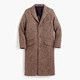 J.Crew Unconstructed Irish herringbone tweed topcoat