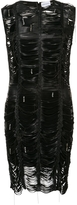 Magda Butrym Bowie Slashed Leather Dress