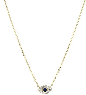 Aqua Evil Eye Pendant Necklace in 18K Gold-Plated Sterling Silver, 16 - 100% Exclusive