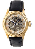 Reign Kennedy Collection Men's Automatic Leather and Stainless Steel Watch