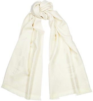 Alexander McQueen Butterfly And Skull-jacquard Wool Scarf