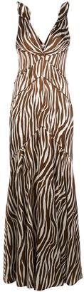 Dvf Diane Von Furstenberg Scarlette zebra print gown