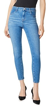 J Brand Alana High-Rise Ankle Skinny Jeans in Cerulean