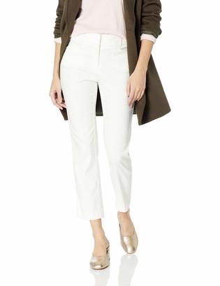 Nanette Lepore Women's High Waist Slash Pocket Straight Left Ankle Pant