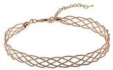 Gottex Rose Gold Plated Wire Choker Necklace.