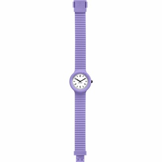 HIP HOP Ladys' Essential Watch Collection with Logo White dial 3 Hands Quartz Movement and Silicon Violet Strap HWU0558