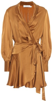 Zimmermann Espionage silk wrap minidress
