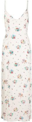 Paco Rabanne Floral Print Long Slip Dress
