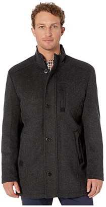 Johnston & Murphy Stretch Wool Coat (Charcoal) Men's Clothing