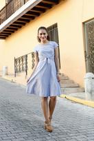 Shabby Apple Evelyn Tie Dress Blue