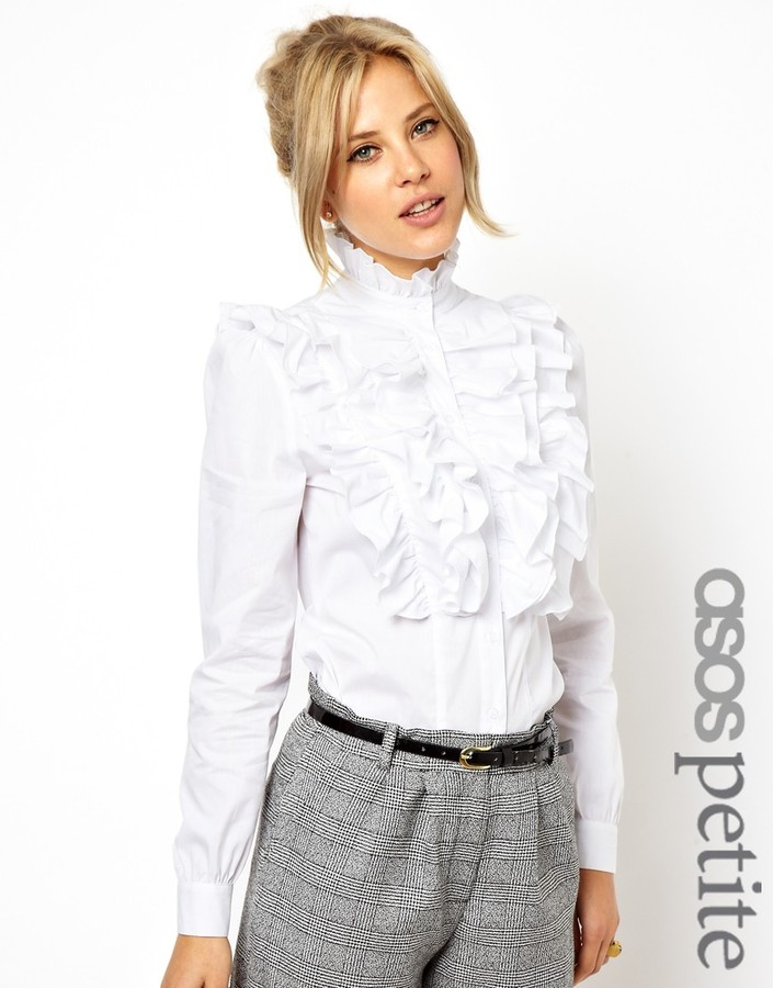 Asos Exclusive Shirt With Ruffle Front