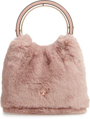 Kate Spade Betty Faux Fur Top Handle Bag