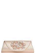 Quiz Gold Metallic Flower Jewel Clutch Bag