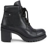 Prada Lug-Sole Leather Combat Boots
