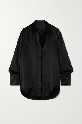 Michael Lo Sordo Boy Silk-satin Shirt - Black