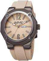 August Steiner Men's Quartz Stainless Steel and Leather Casual Watch, Color: (Model: AS8232BG)