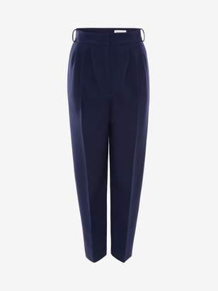 Alexander McQueen Light Wool Silk Peg Trouser