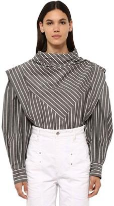 Isabel Marant Welly Striped Cotton Blend Poplin Shirt