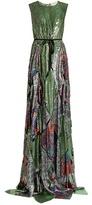 Maison Rabih Kayrouz Multi-jacquard silk-blend lamé gown