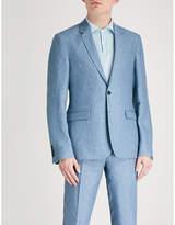 Sandro Slim-fit linen suit jacket