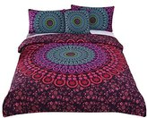 Sleepwish 4 Pcs Mandala Bedding Posture Million Romantic Soft Bedclothes Plain Twill Boho Bohemian Duvet Cover Set Queen Size