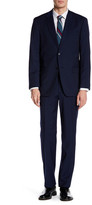 Tommy Hilfiger Vasser Navy Striped Two Button Notch Lapel Suit