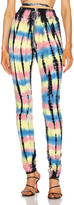 Frankie B. Alaina Ring Zip High Rise Sweatpants in Tiger | FWRD