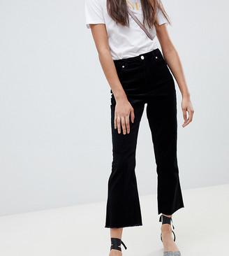 Miss Selfridge kick flare pants in black
