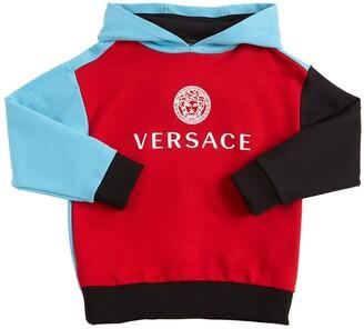 Versace Color Block Cotton Sweatshirt Hoodie