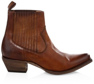 Frye Sacha Western Leather Ankle Boots
