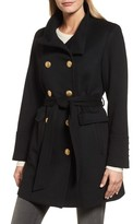 Sofia Cashmere Women's Wool & Cashmere Blend Military Coat