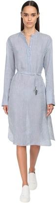 Max Mara 'S Striped Linen & Silk Dress