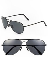 Porsche Design Men's 'P8508' 62Mm Aviator Sunglasses - Black Matt