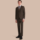 Burberry Slim Fit Wool Flannel Suit , Size: 56R, Green