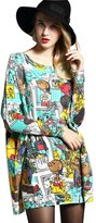 YOUJIA Women's Plus Size Sweater Baggy Long Sleeve Pullover Tunic