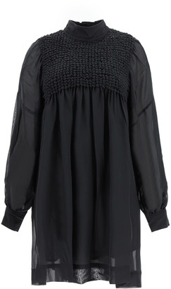 Ganni CHIFFON MINI DRESS 34 Black