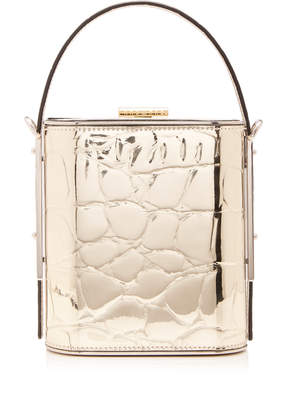 Hayward Field Croc-Effect Vegan Leather Box Bag