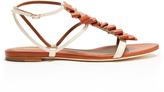 Malone Souliers Audrey pleated-front leather sandals