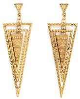 Charlotte Russe Layered Triangle Dangle Earrings
