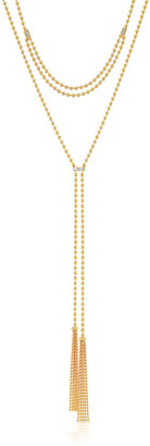 Maria Canale 18k Adjustable 2-Tassel Necklace w/ Diamonds