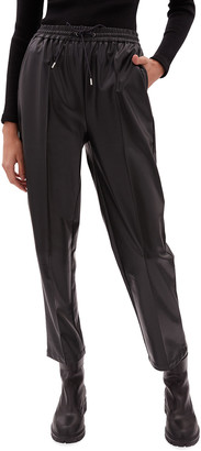 JONATHAN SIMKHAI STANDARD Tay Stretch Vegan-Leather Jogger Pants