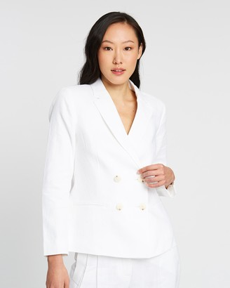 Sportscraft Frida Double-Breasted Linen Blazer