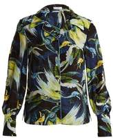 Erdem Fae Night Bird-print silk crepe de Chine shirt