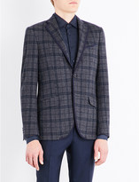 Etro Checked tailored-fit cotton and wool-blend jacket