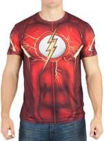 Bioworld DC Comics Mens Flash Suit Up Sublimated Costume T-shirt 2XL