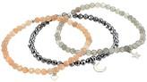 Dee Berkley Love Is In The Air in Silver Tone Labradorite, Moonstone and Hematite Set (Multi) Bracelet
