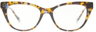 Le Specs Chimera Tortoiseshell Acetate Glasses - Womens - Tortoiseshell