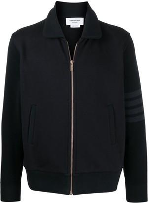Thom Browne 4-Bar zip-up cardigan