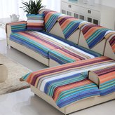 YHTYGUU blue Estern Mediterrnen striped sof cushions/ cotton sof towel/Generl thickening of the four sesons slip sof towel